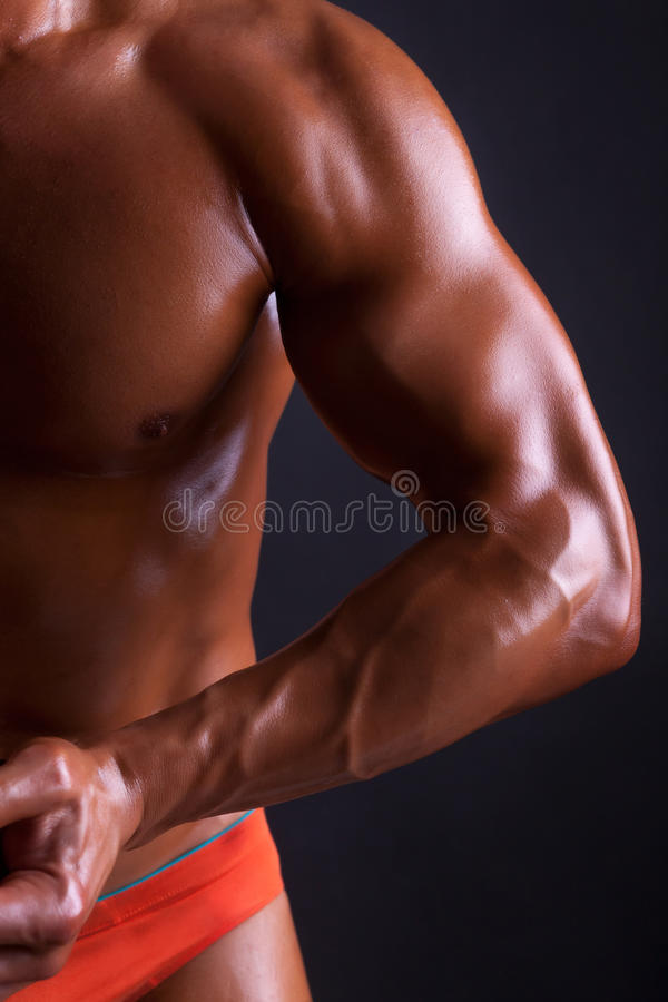 Download Body Of Muscles Man On Black Background Stock Photo - Image: 40792877