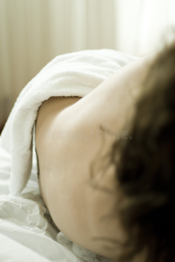 Download Body of nude woman on bed stock image. Image of comfort - 3781523