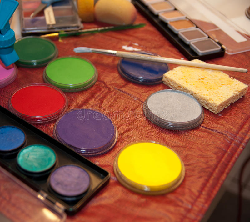 Download Body Paint stock image. Image of purple, paint, brush - 18163977
