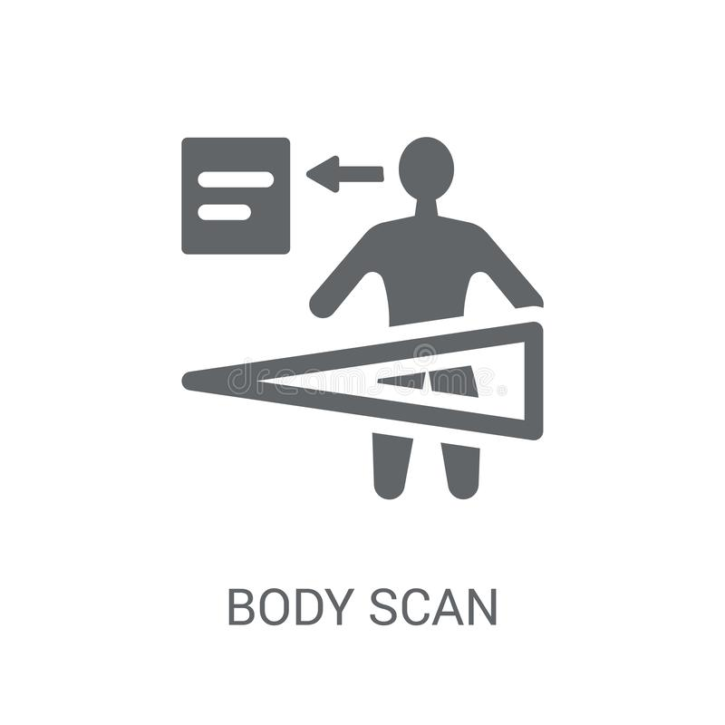 Body scan icon. Trendy Body scan logo concept on white background from Artificial Intelligence collection stock illustration