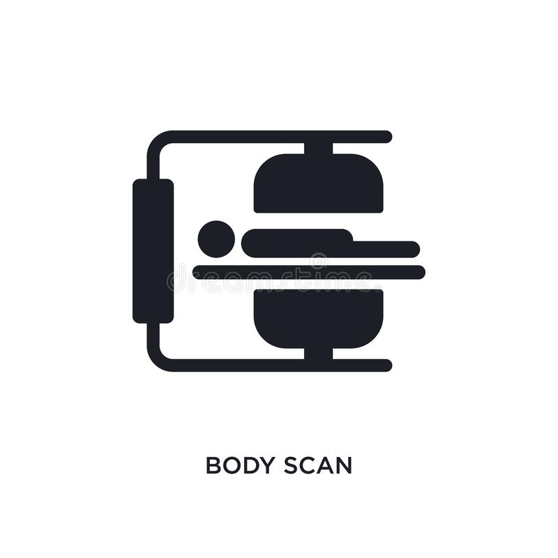 body scan isolated icon. simple element illustration from artificial intellegence concept icons. body scan editable logo sign royalty free illustration