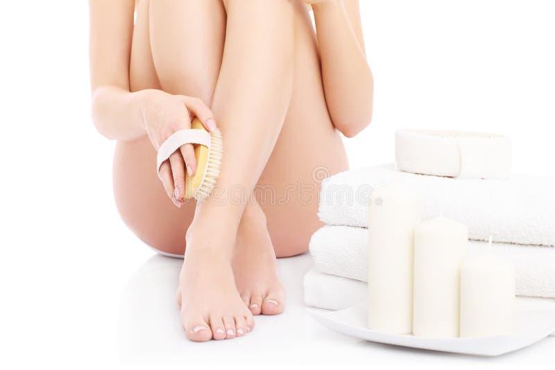 Download Body scrub stock photo. Image of body, lady, scrub, exfoliate - 39284908