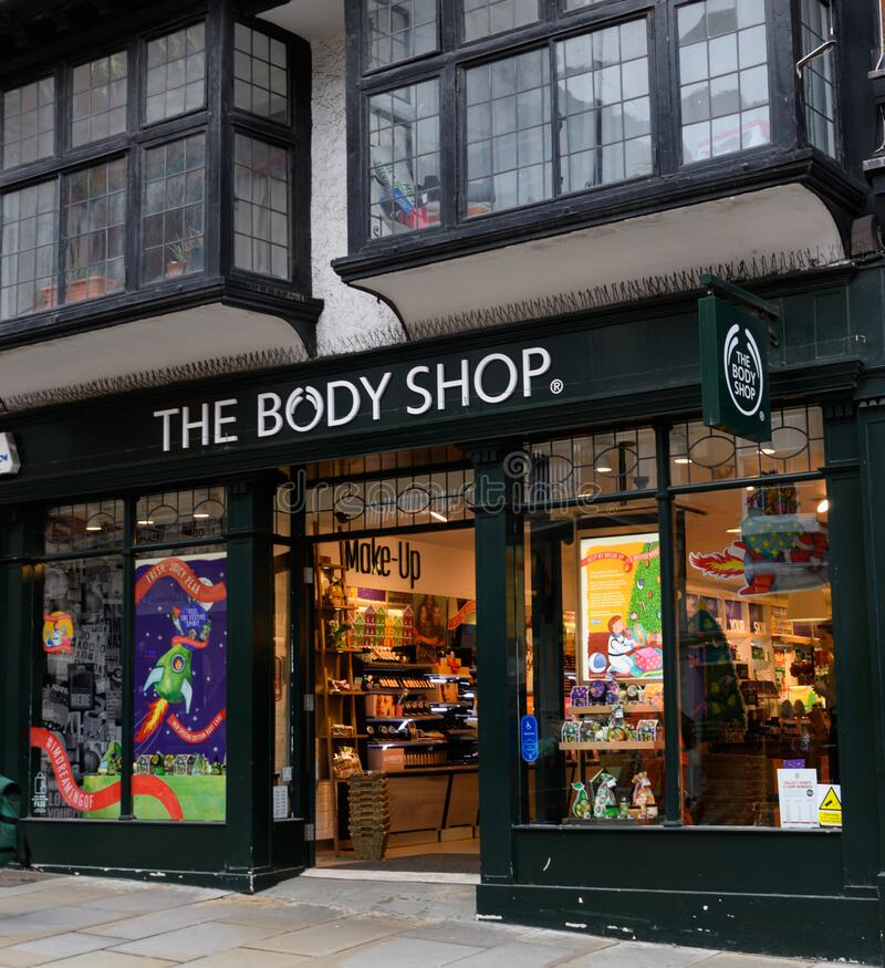 Body Shop Guildford royalty-vrije stock afbeelding