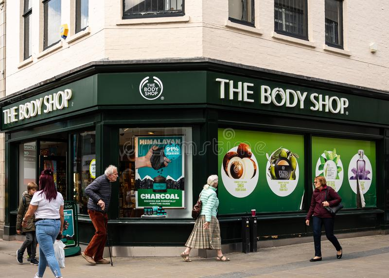 Body Shop Swindon arkivbild