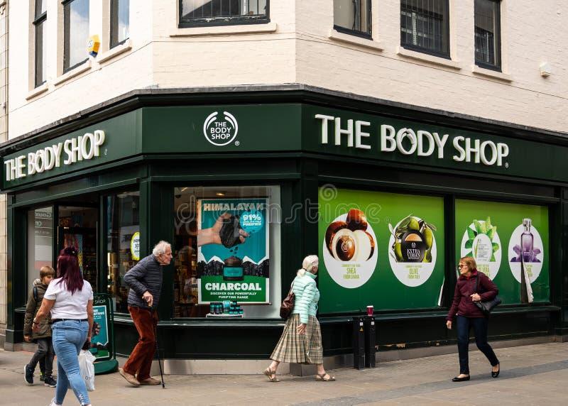 Body Shop Swindon fotografía de archivo
