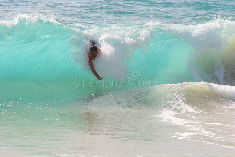 Body Surfing royalty free stock photo