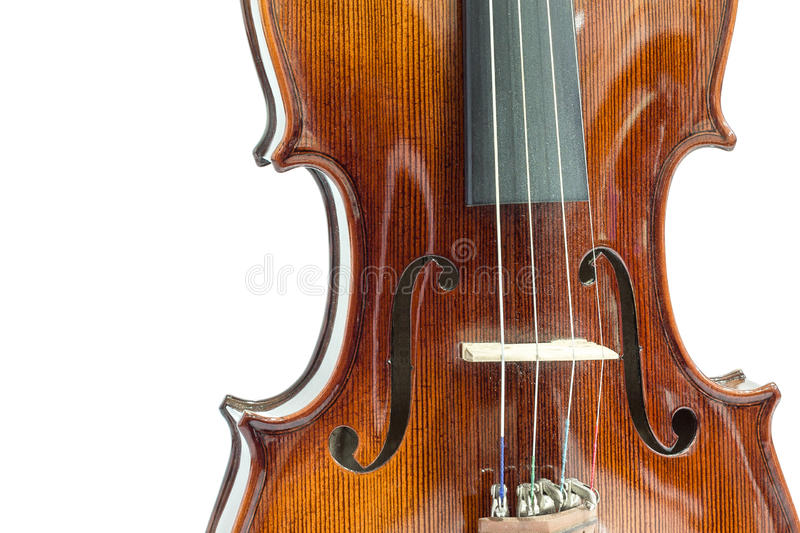 Body of violin. On a white background stock images