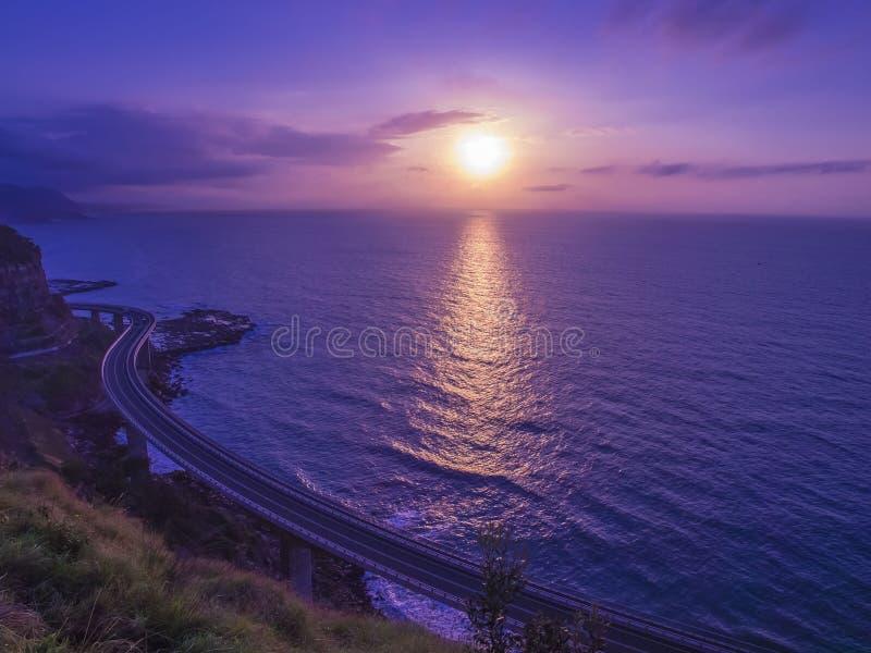 Body of Water Across Sunset stock photo