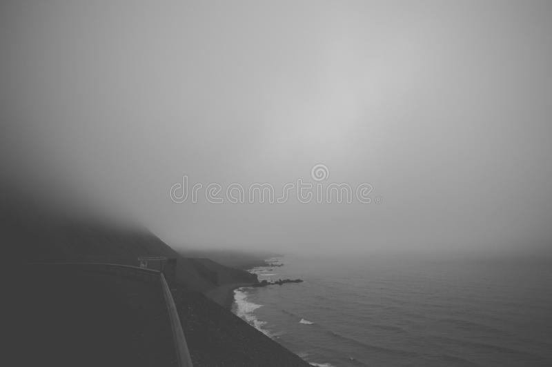 Body Of Water And Land Black And White Photo Free Public Domain Cc0 Image