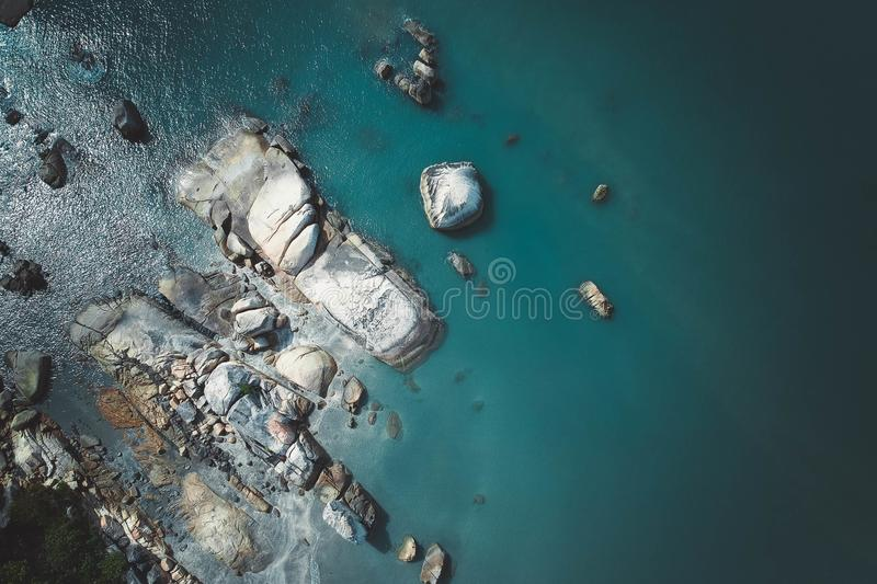 Body of Water With Rocks stock photography