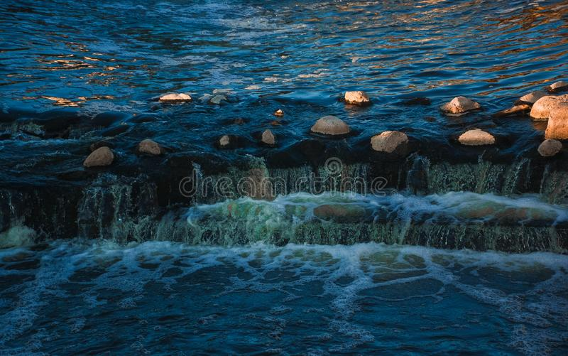 Body of Water and Stones stock photo