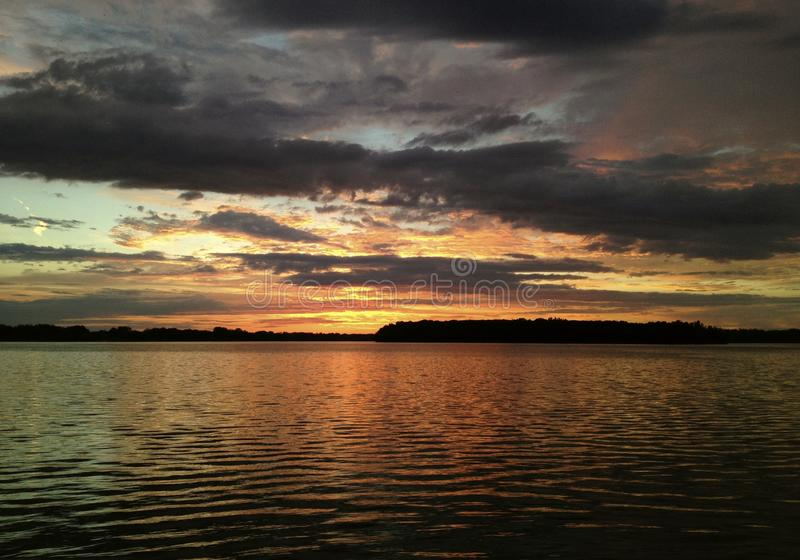 Download Body Of Water Under Gray And White Cloudy Sky During Sunset Stock Image - Image of water, free: 83009453