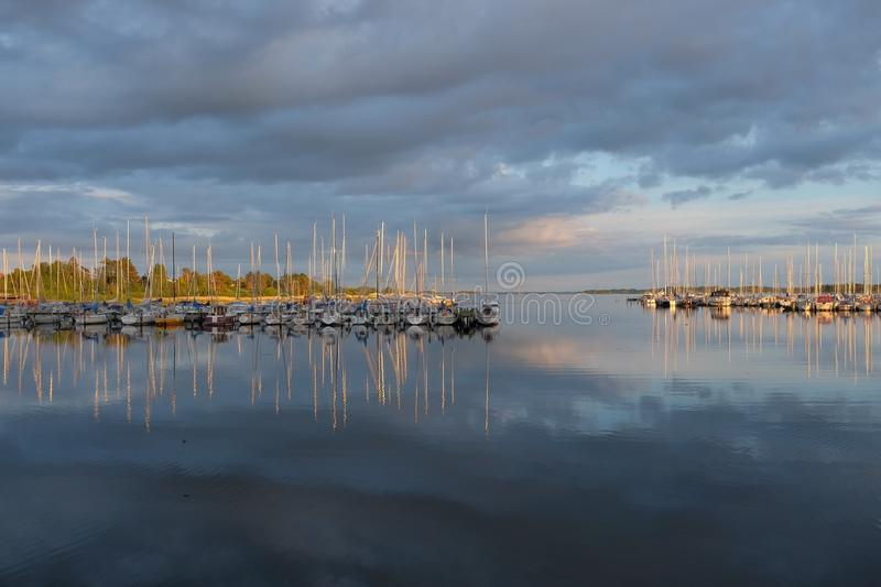 Download Body of Water View stock image. Image of harbor, clouds - 83021819
