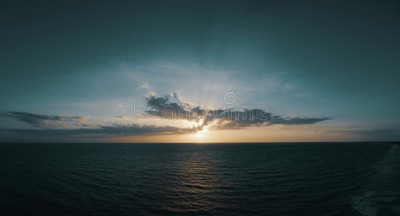 Body of Water and White Clouds Photo stock photos