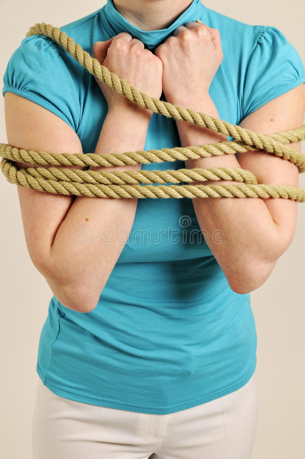 Download Body Of Woman Bound With Rope Stock Photos - Image: 9398573