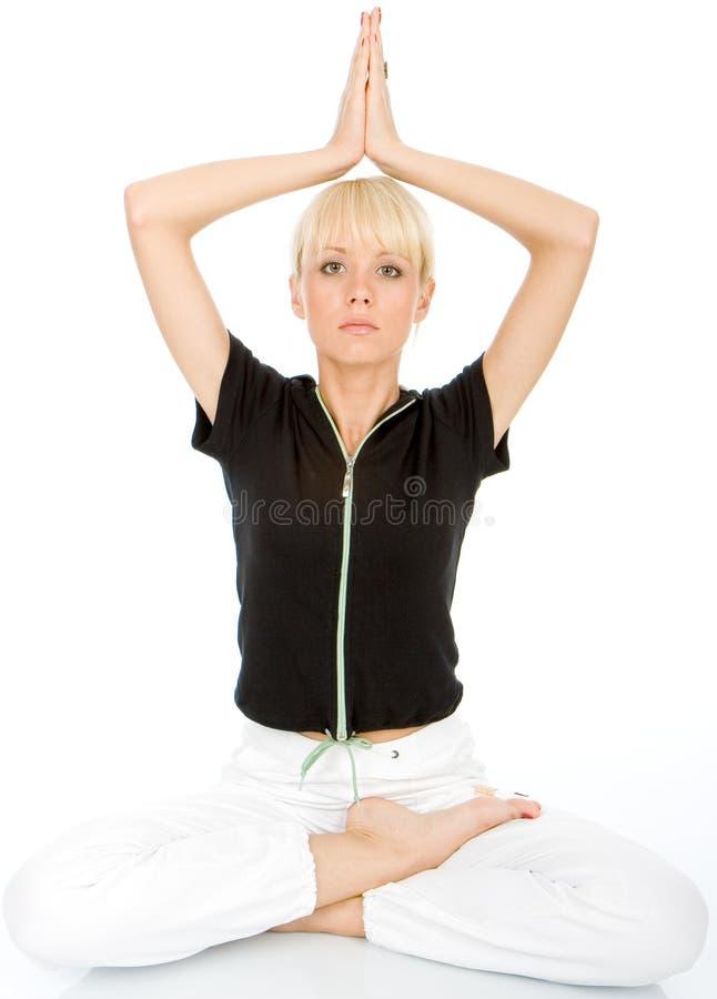 Body yoga exercise royalty free stock photos