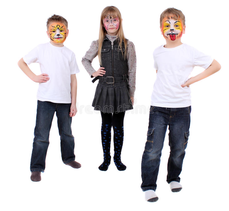 Bodyart Kinder stockfoto