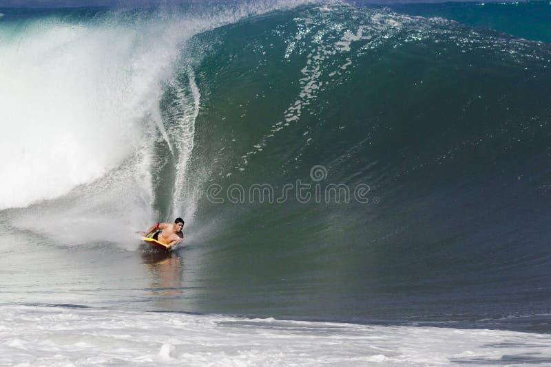 Bodyboarder em Puerto Vallarta México imagens de stock