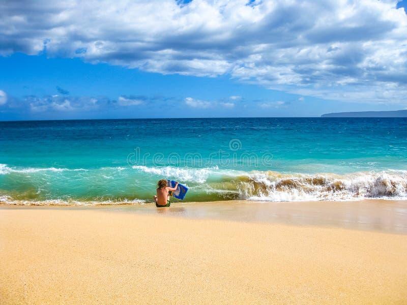 Bodyboarding Hawaï royalty-vrije stock afbeeldingen