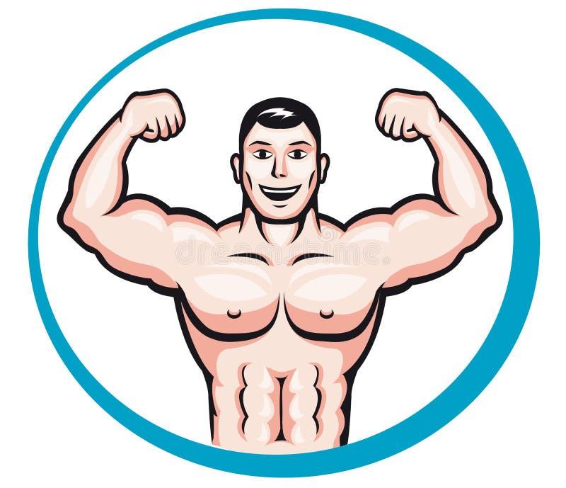 bodybuilder ευτυχής απεικόνιση αποθεμάτων