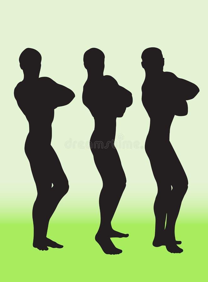 Download Bodybuilder vector illustratie. Illustratie bestaande uit spier - 10777497