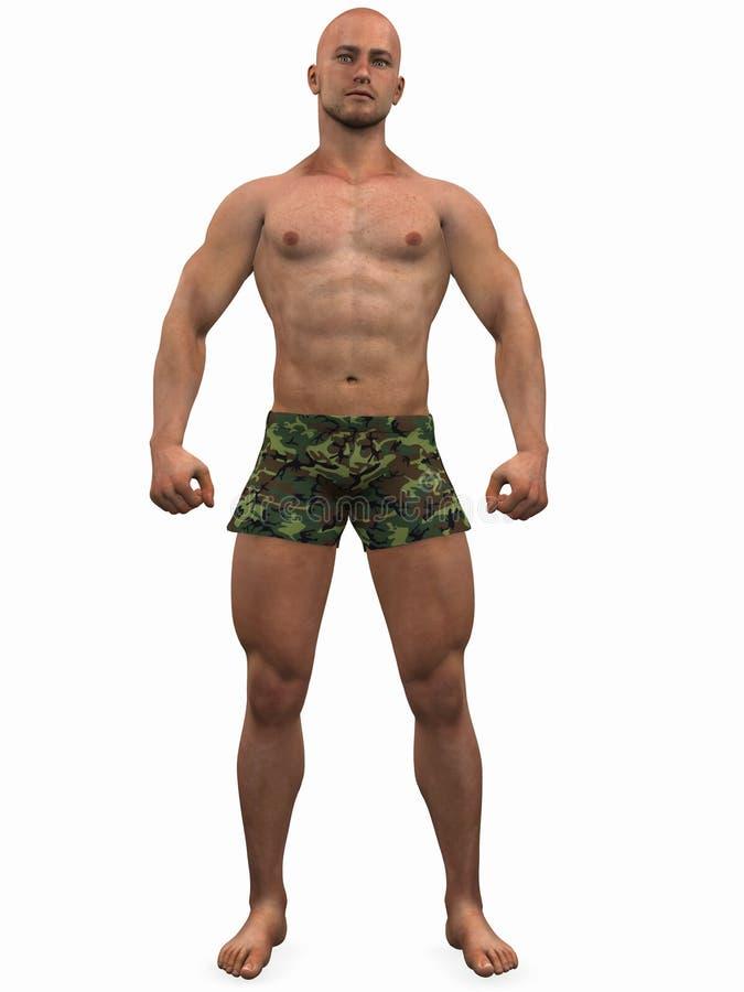 bodybuilder ilustracja wektor