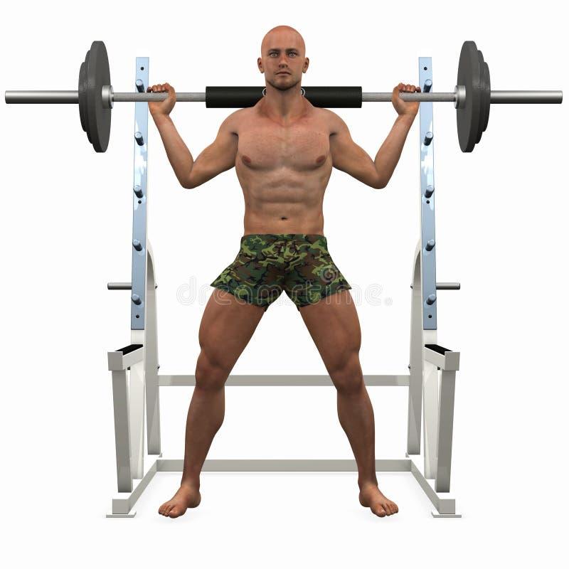 Bodybuilder illustration stock