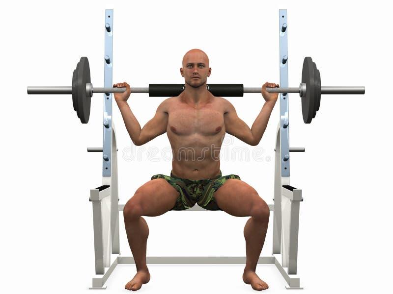 Bodybuilder illustration de vecteur