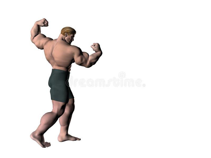 Bodybuilder 13 stock illustratie