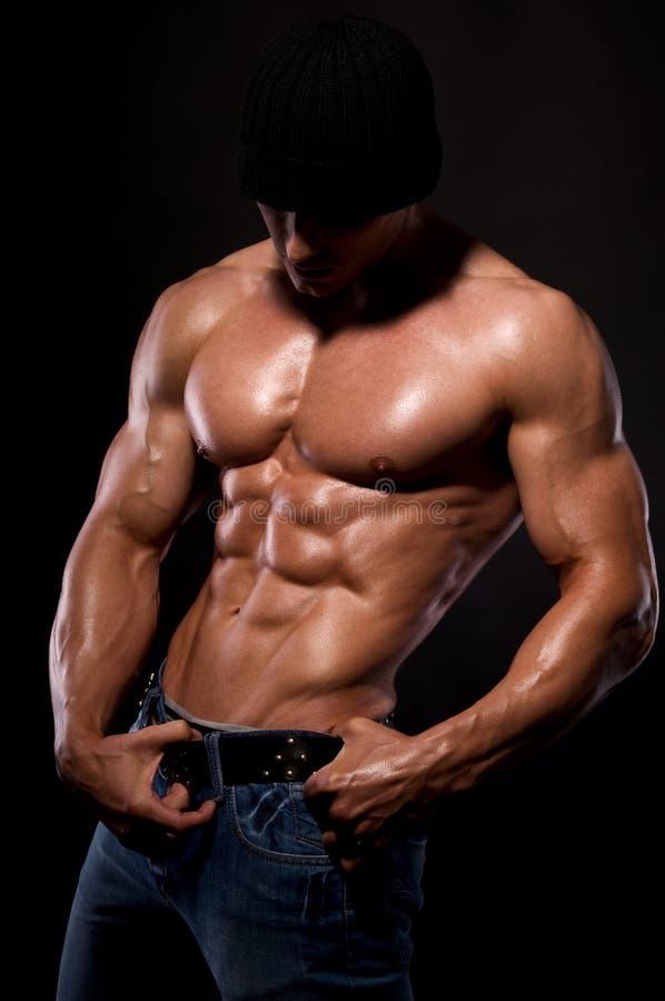 Bodybuilder. stockbilder