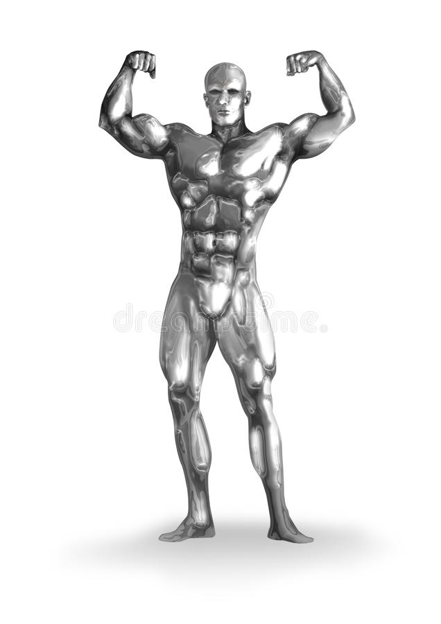 Bodybuilder illustration stock