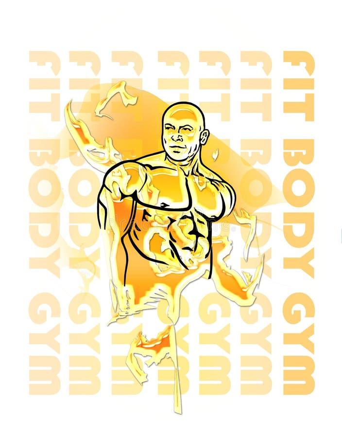 Bodybuilder lizenzfreies stockfoto