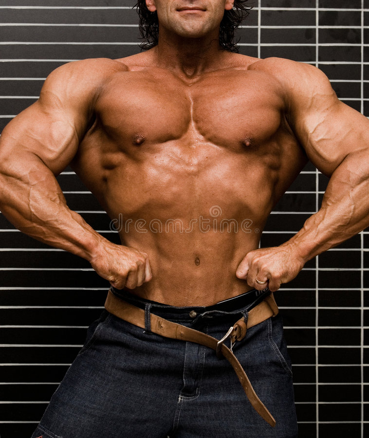 Bodybuilder image stock