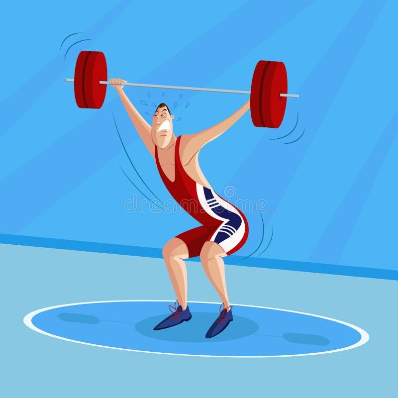 Bodybuilder royalty ilustracja