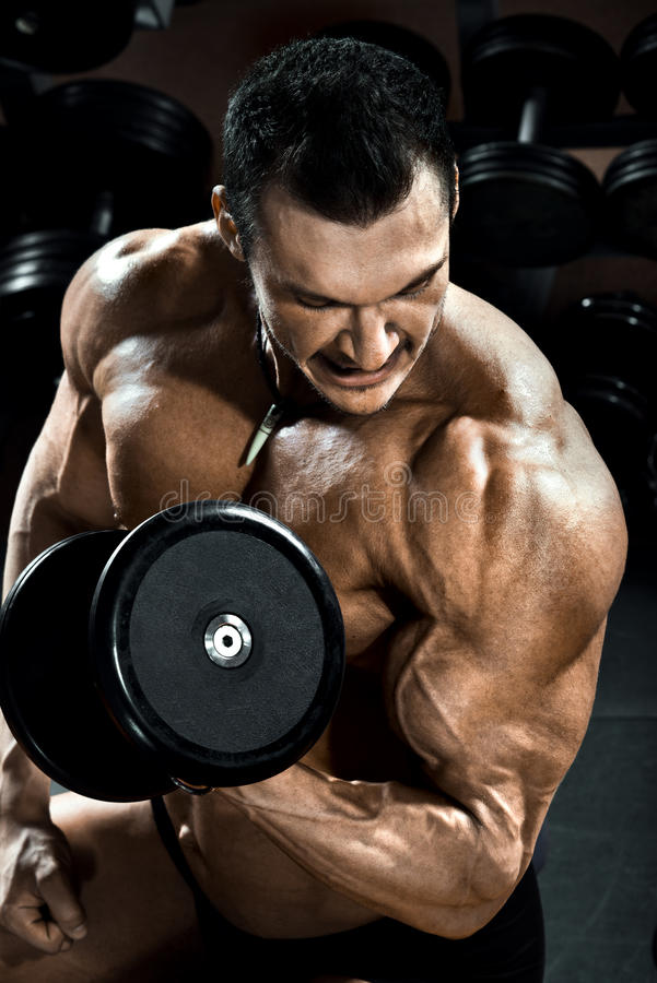 Bodybuilder stockfoto