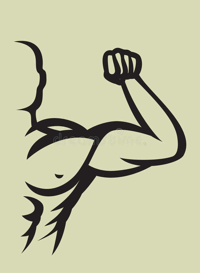Bodybuilder stock illustratie