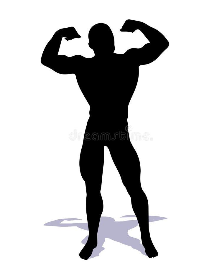 Bodybuilder vector illustratie