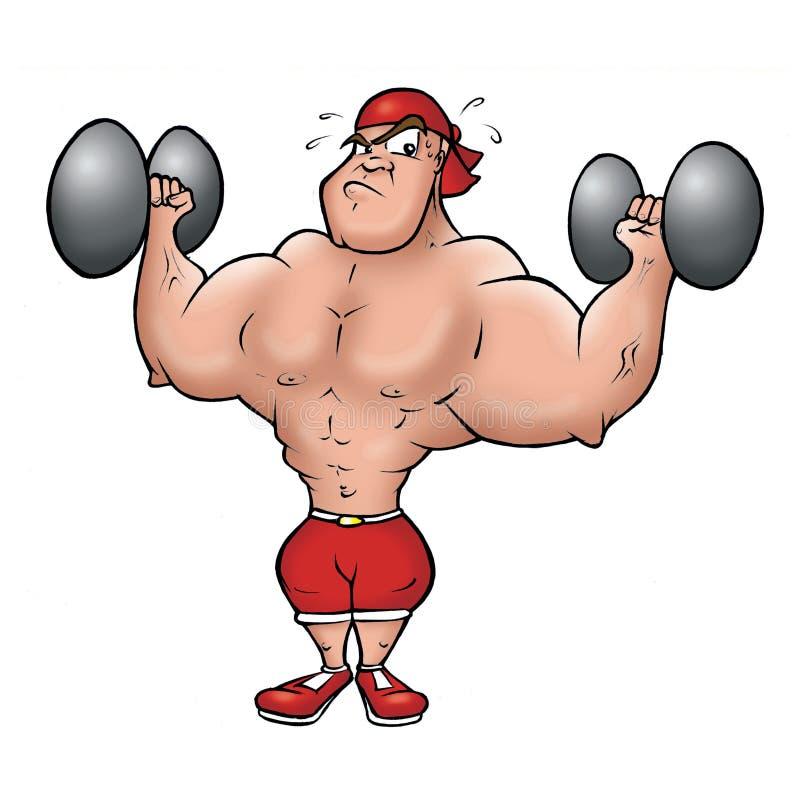 Bodybuilder vektor abbildung