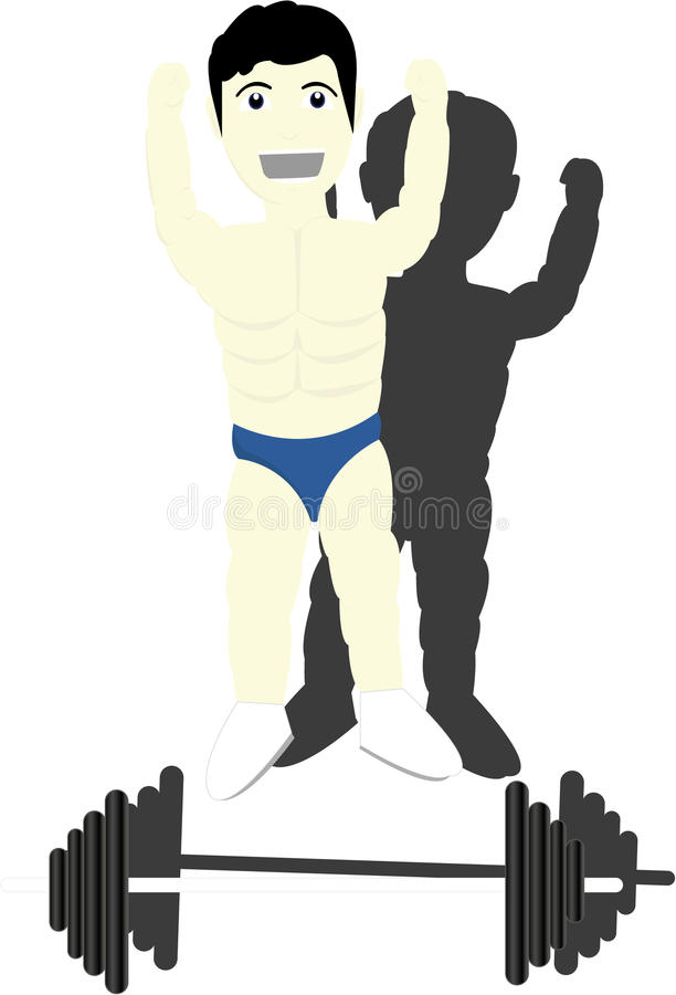 Bodybuilder stock illustratie