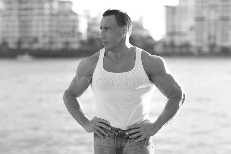 Bodybuilder akimbo imagem de stock royalty free