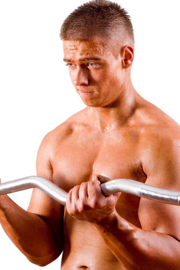 Bodybuilder amador fotos de stock royalty free