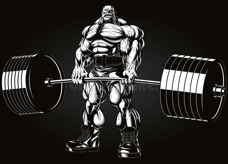 Bodybuilder With A Barbell Stock Vector - Image: 54152960