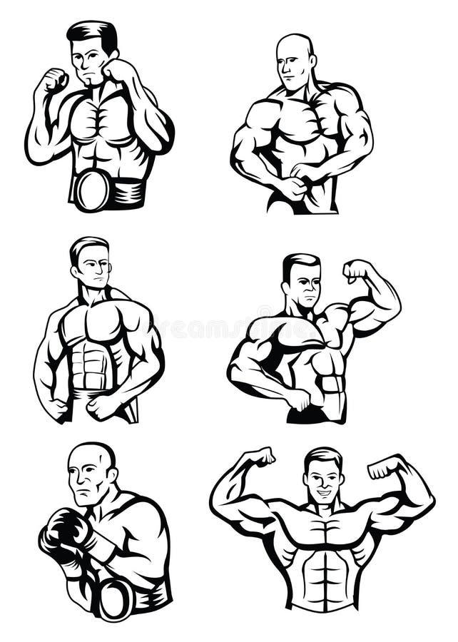 Bodybuilder Collection stock abbildung