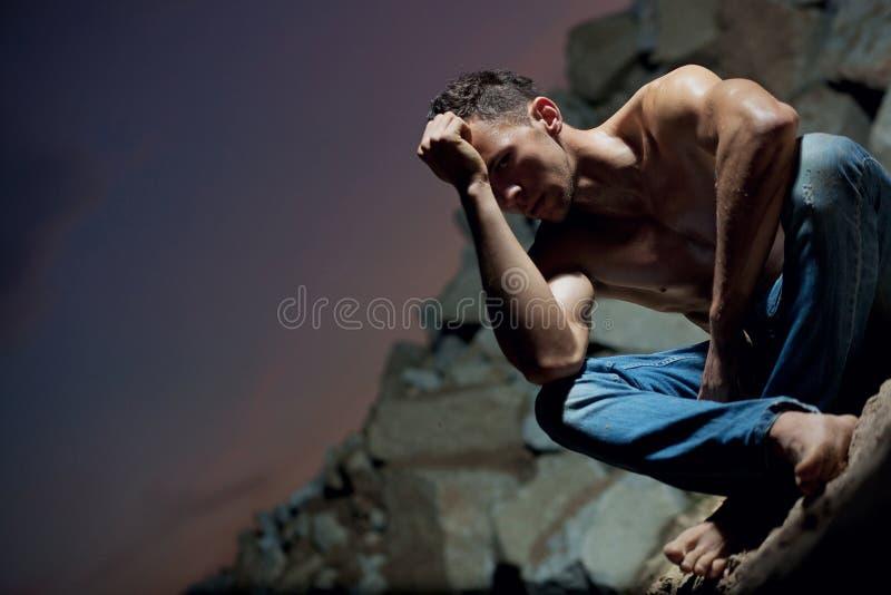 Bodybuilder considerável fotografia de stock