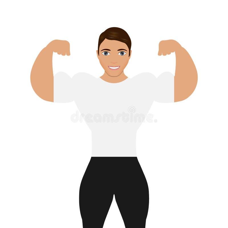 Bodybuilder d'hommes illustration de vecteur