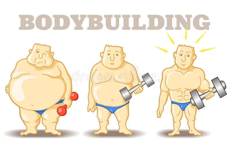 Bodybuilder drôle illustration libre de droits