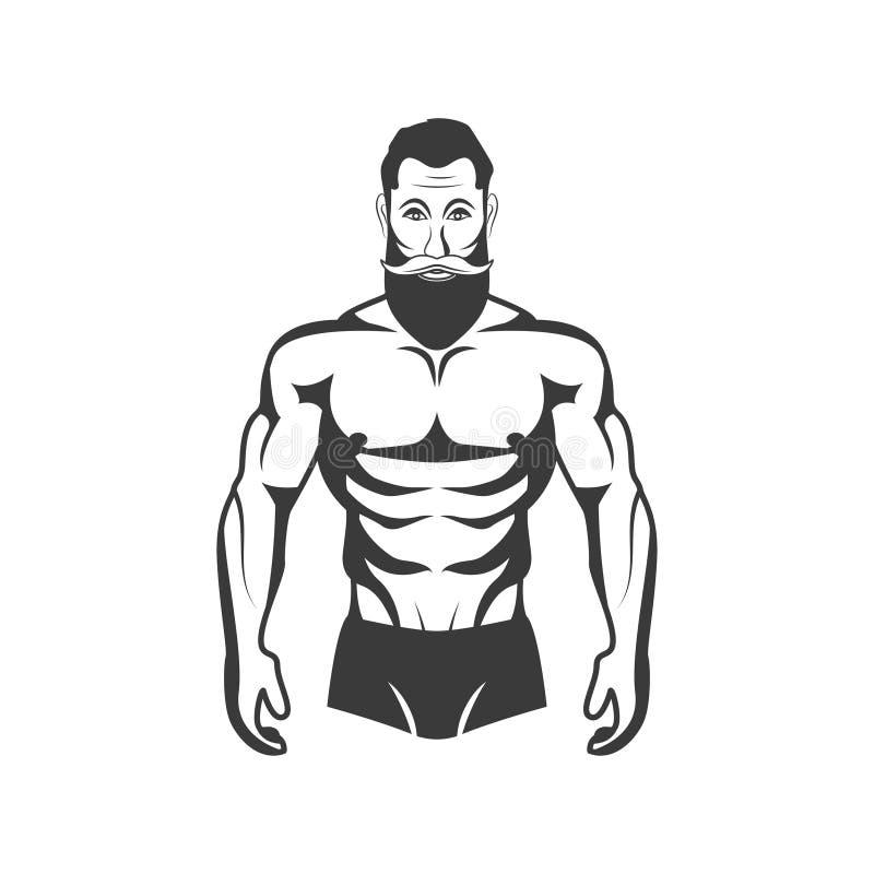 Bodybuilder-Eignungs-Modell Illustration Ästhetischer Körper lizenzfreie abbildung