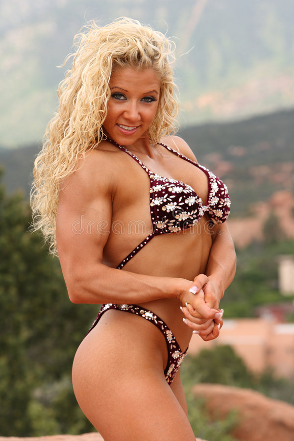 Bodybuilder féminin photos stock