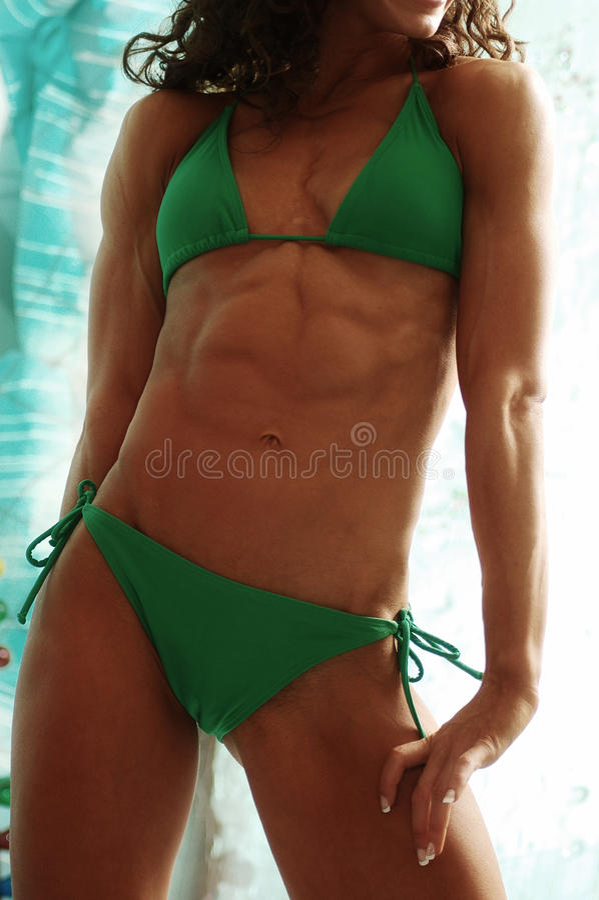 Bodybuilder femminile immagine stock libera da diritti