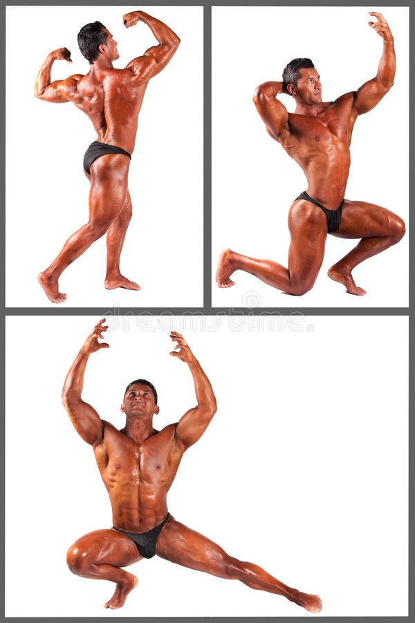 Download Bodybuilder Flexing His Muscles In Studio Set Stock Images - Image: 37349274